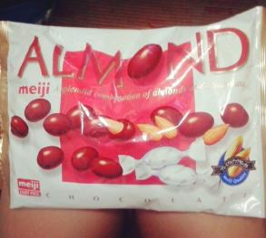Meiji choco almonds